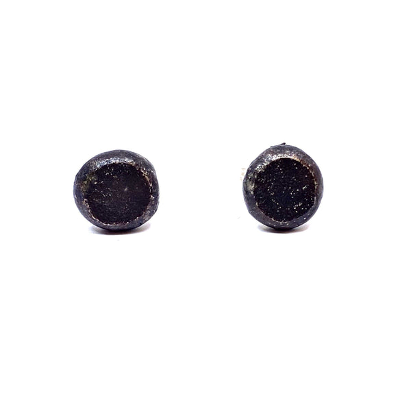 Sunggee Min - Simple Oxidised Silver Stud Earrings - Australian made Jewellery