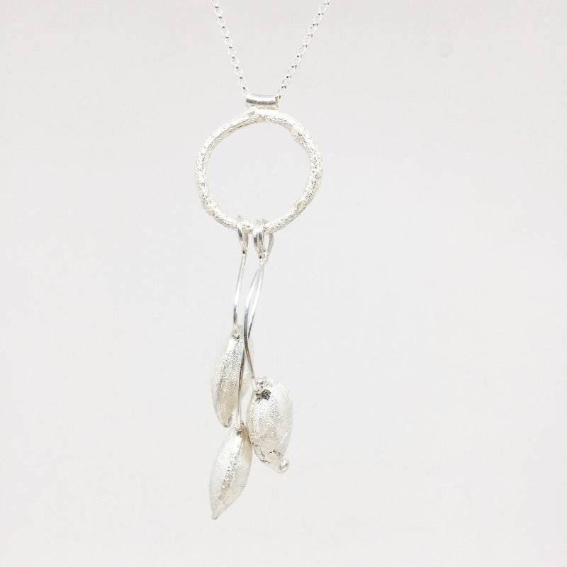 Sunggee Min — Sterling Silver Multi Grevillea Necklace - Australian made Jewellery