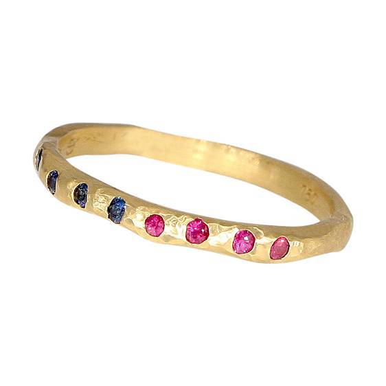 Taë Schmeisser — Radiance Ring in 18ct Yellow Gold with Rubies and Sapphires - Australian made Jewellery