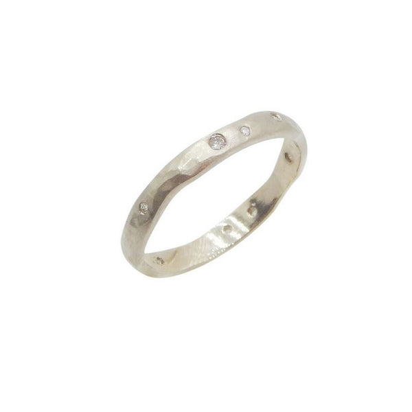 Tae Schmeisser — White Gold and Diamond Radiance Ring - Australian made Jewellery