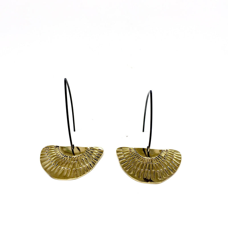 Tara Lofhelm - Gold Plated Between the Lines Earrings - Australian made Jewellery