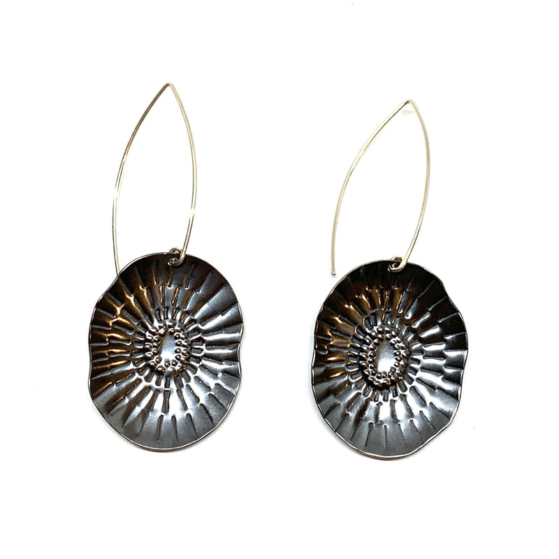 Tara Lofhelm — Noir Bloom Oxidised Sterling Silver Earrings - Australian made Jewellery