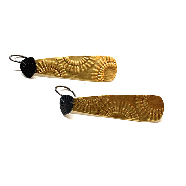 Tara Lofhelm — Resplendent Gold Plated Drop Earrings - Australian made Jewellery