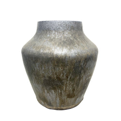 Tara Shackell — Wide Iron Age Bronze Vase - Australian made Ceramics