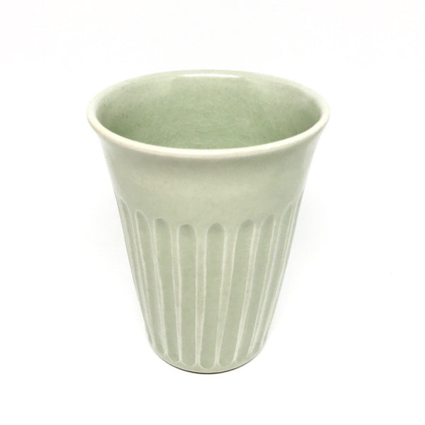 Terunobu Hirata — Celadon Grooved Cup - Australian made cup