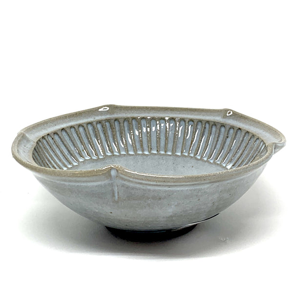 Terunobu Hirata — Fluted Straw White Rinka Bowl - Australian made bowl lunch | dinner