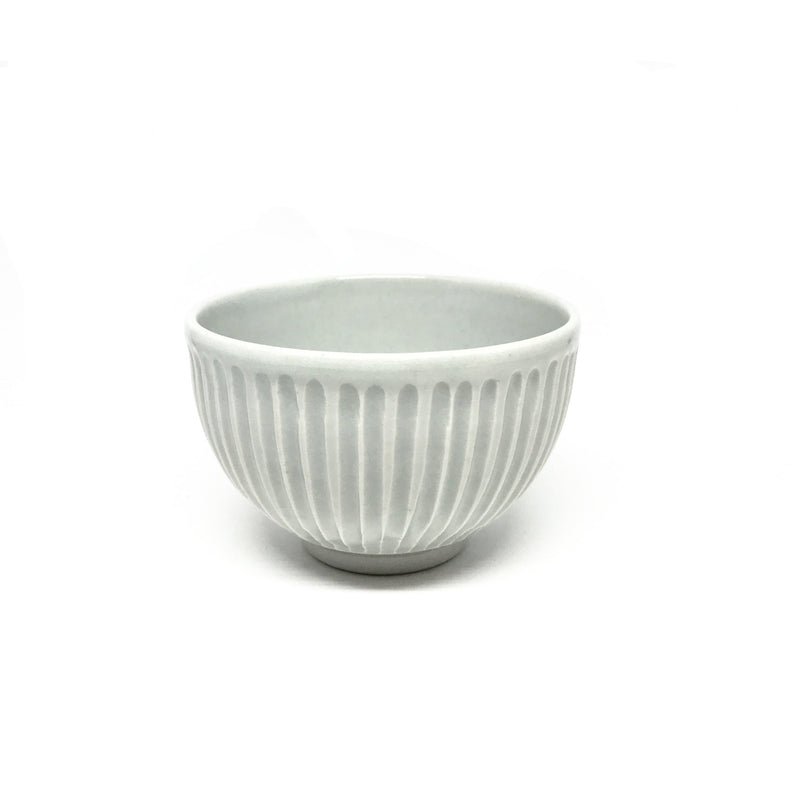 Terunobu Hirata — Grooved Celadon Small Rice Bowl bowl small Terunobu Hirata | Craft