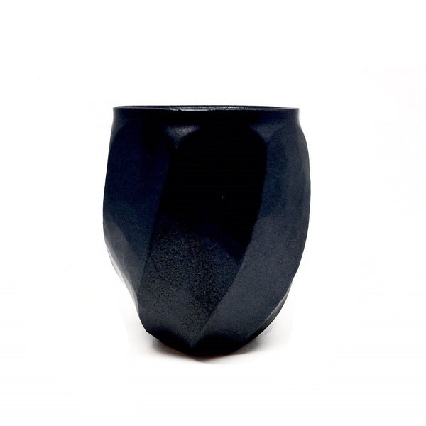 Terunobu Hirata — Twist Facetted Matte Black Cup Ceramics Terunobu Hirata | Craft