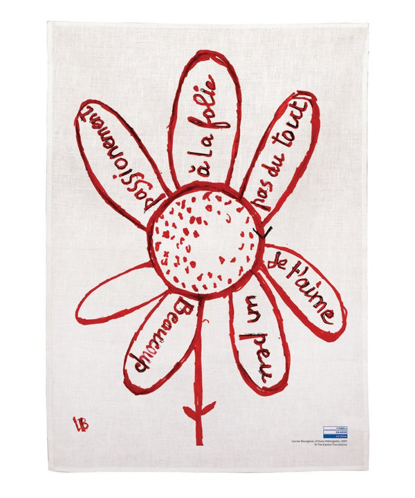 Third Drawer Down x Louise Bourgeois — Virtues theologales Linen Tea Towel - Australian made Textiles