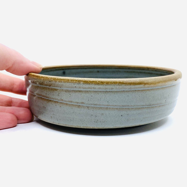 Valerie Restarick — Grey Green Lunch | Baking Bowl - Australian made Ceramics