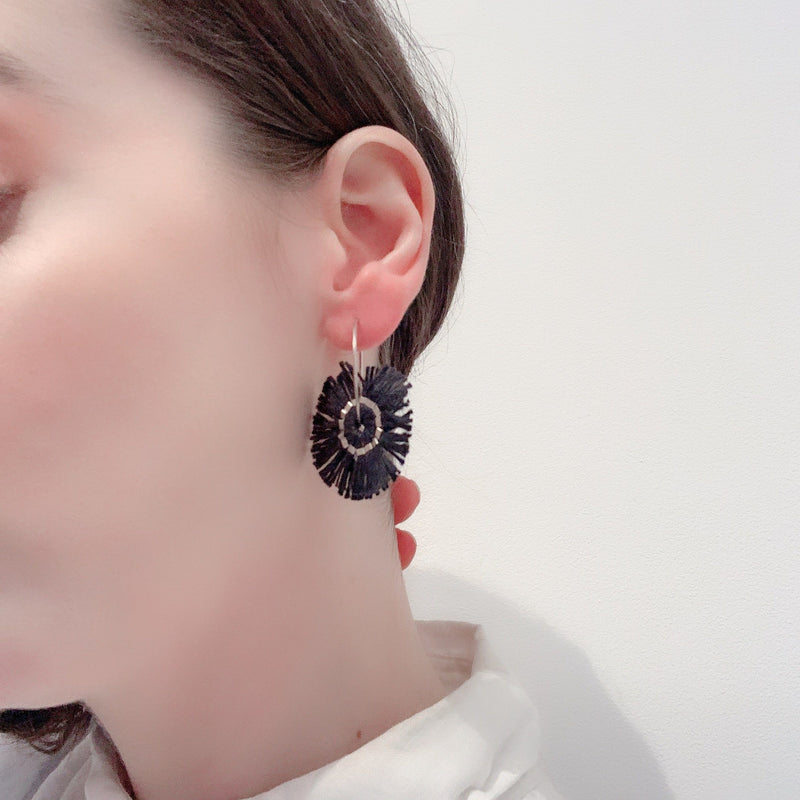 Vicki Mason — Blunt Edge Hoop Earrings in Black - Australian made Jewellery
