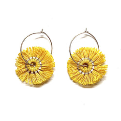 Vicki Mason — Blunt Edge Hoop Earrings in Yellow - Australian made Jewellery
