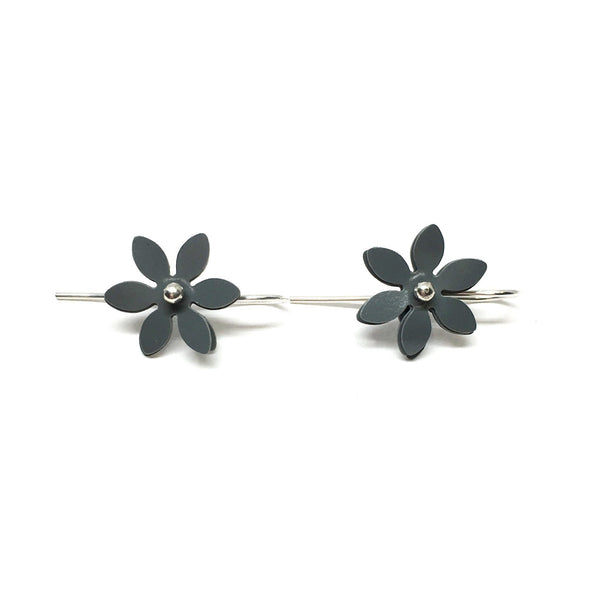 Vicki Mason — Daisy Punch Earrings in Grey - Jewellery - Craft