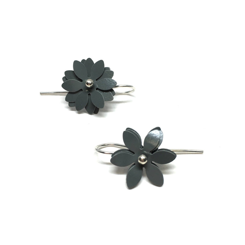 Vicki Mason — Daisy Punch Earrings in Grey Jewellery Vicki Mason | Craft