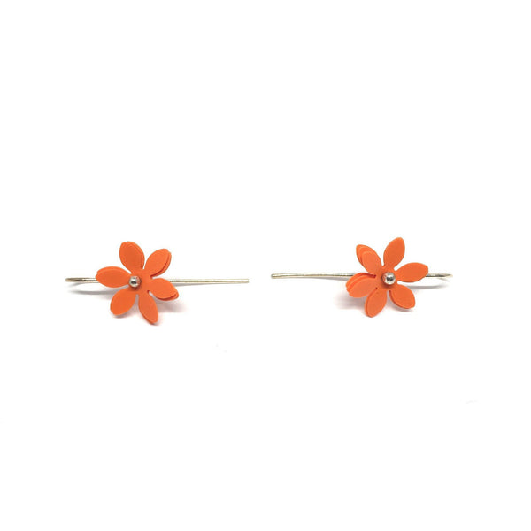 Vicki Mason — Daisy Punch Earrings in Orange - Jewellery - Craft