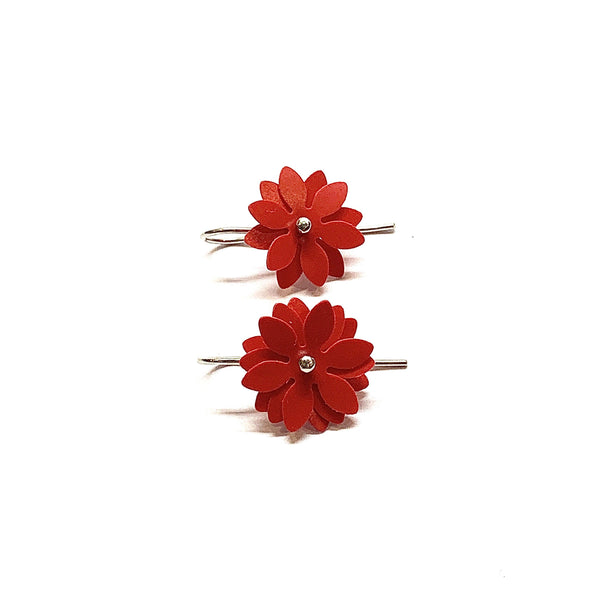 Vicki Mason — Daisy Punch Earrings in Red - Australian made Jewellery