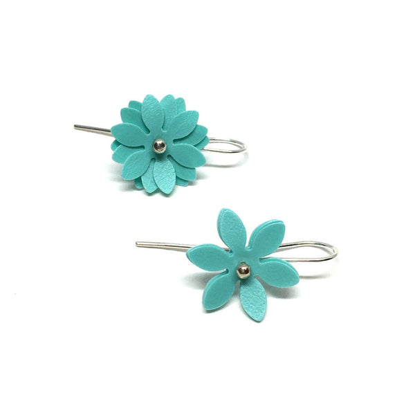 Vicki Mason — Silver Hook Daisy Punch Mint Earrings - Australian made Jewellery