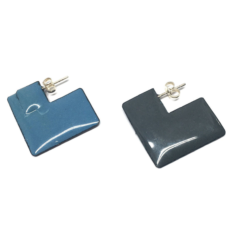 Victoria Mason - Enfold Earrings in Stormcloud and Blue - Australian made Jewellery