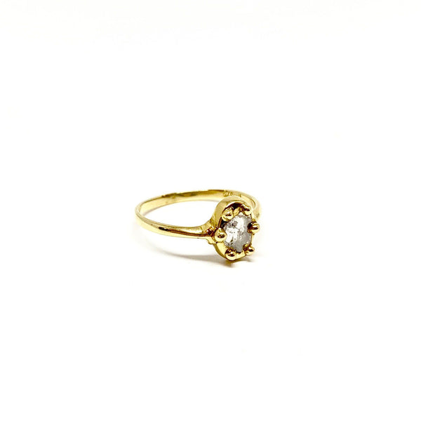 Victoria Mason — 'Rita' 9ct Yellow Gold Diamond Slice Ring - Australian made Jewellery