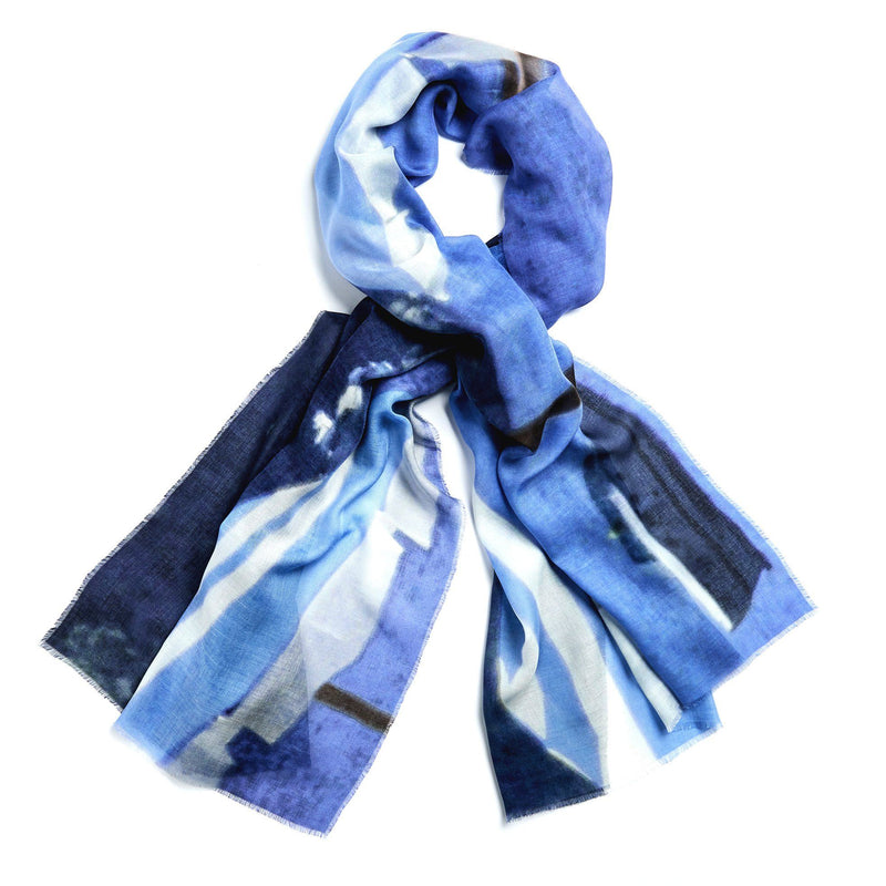 Wendy Bannister, Taxidi — Capri Modal Cashmere Scarf (Comes with Complimentary Matching Face Mask) - Australian made Textiles