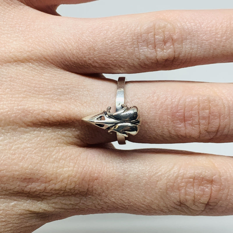 William Llewellyn Griffiths, Metal Couture — Raven Skull Stack Ring - Australian made Jewellery
