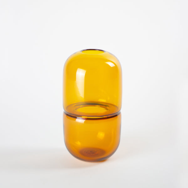 YEEND — 'Babypill' Vase in Lemon Yellow Glass YEEND | Craft