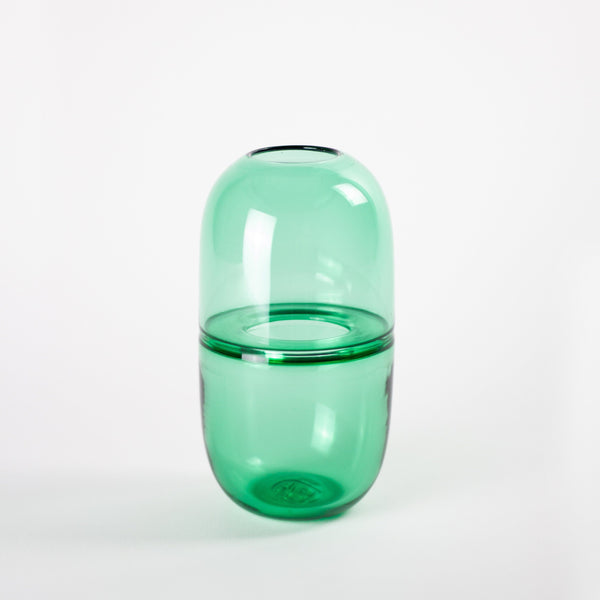YEEND — 'Babypill' Vase in Moss Green Glass YEEND | Craft