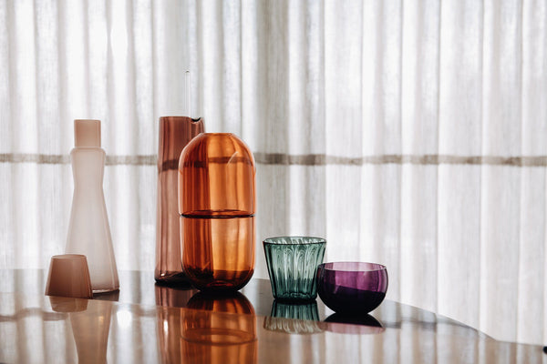 YEEND — 'Sugarpill' Vase in Cherry Pink Glass YEEND | Craft