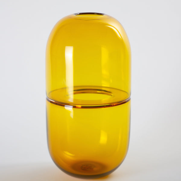 YEEND — 'Sugarpill' Vase in Lemon Yellow Glass YEEND | Craft