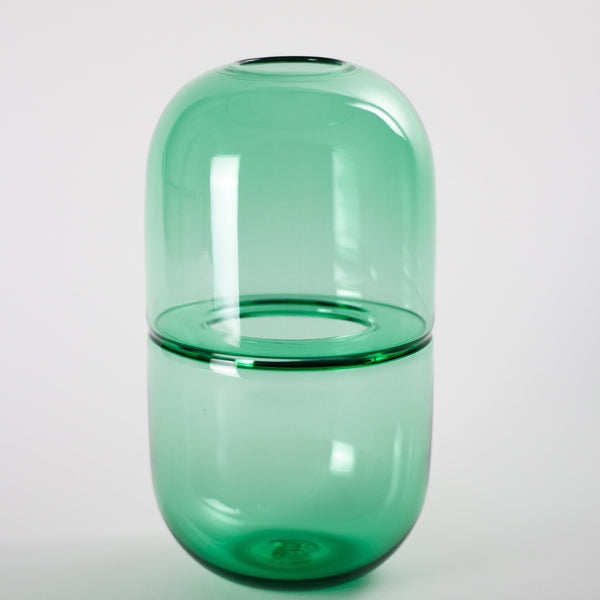 YEEND — 'Sugarpill' Vase in Moss Green Glass YEEND | Craft