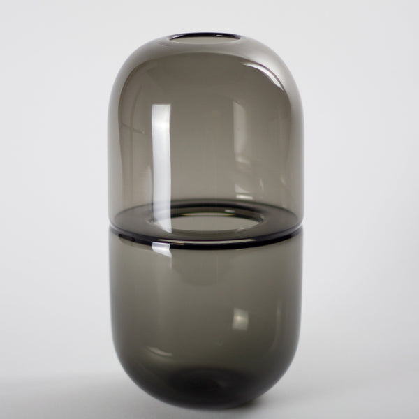 YEEND — 'Sugarpill' Vase in Steel Grey Glass YEEND | Craft