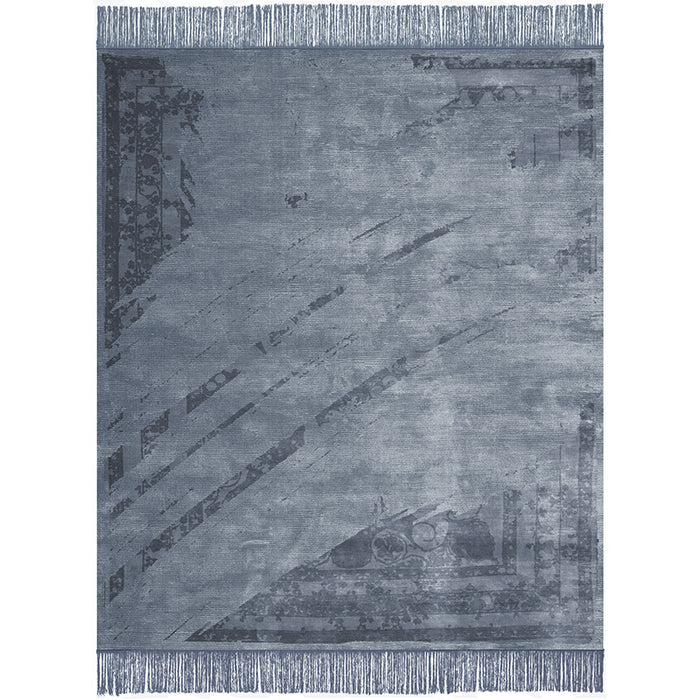 By Second Studio Gazzo Moiano Gm6909 Midnight Blue Silk Rug Main Image
