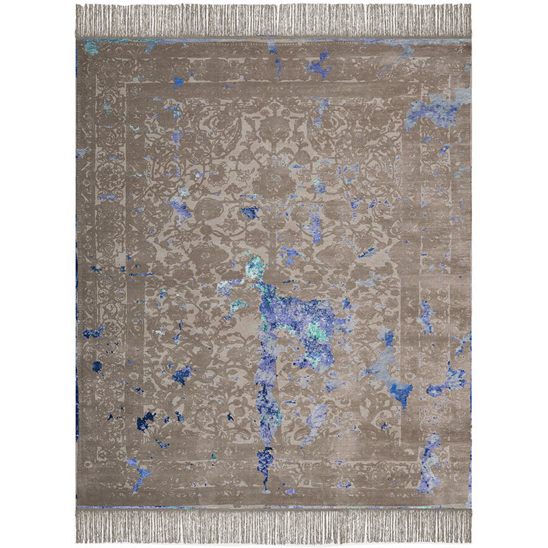 By Second Studio Indigo Modena Im1362 Taupe Grey Silk Rug Main Image