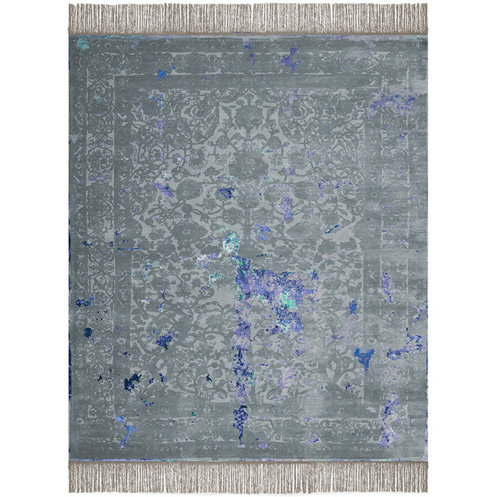 By Second Studio Indigo Modena Im1363 Wild Dove Grey Silk Rug Main Image