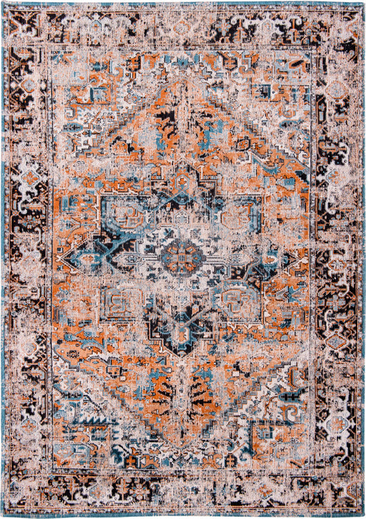 Louis De Poortere Orange Designer Traditional Rug Main Image