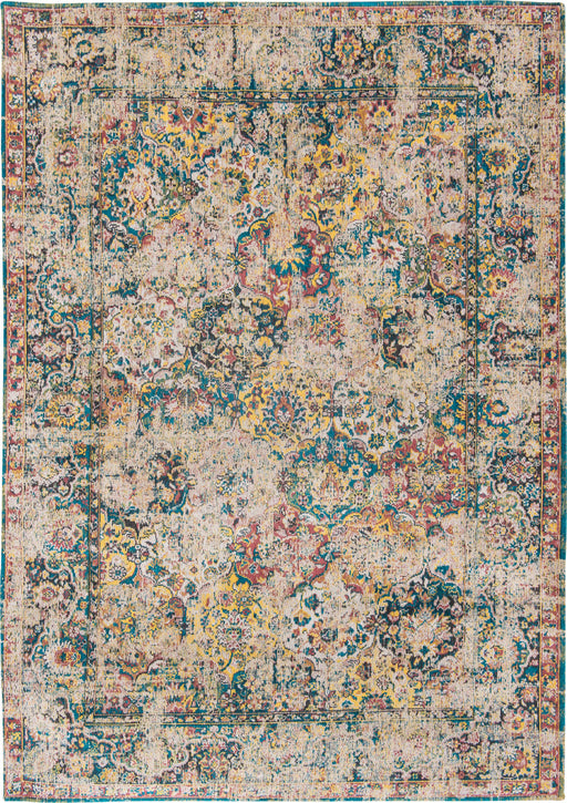 Louis De Poortere Yellow Designer Transitional Rug Main Image