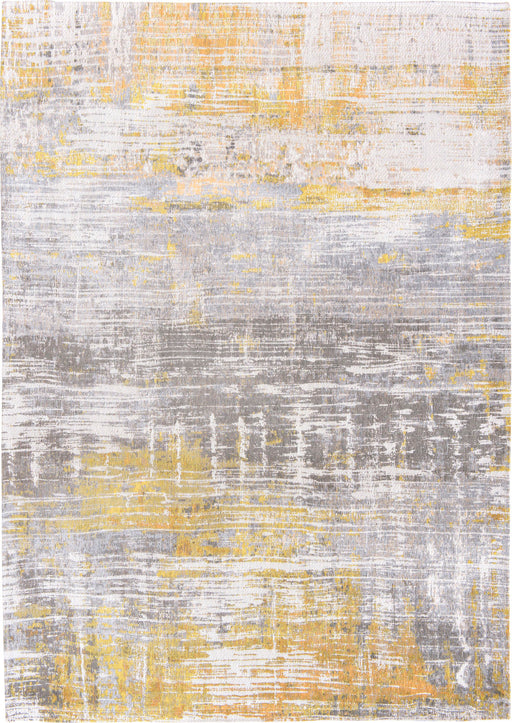 Louis De Poortere Yellow Designer Abstract Rug Main Image