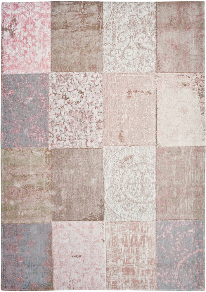 Louis De Poortere Pink Cotton Wool Rug Main Image