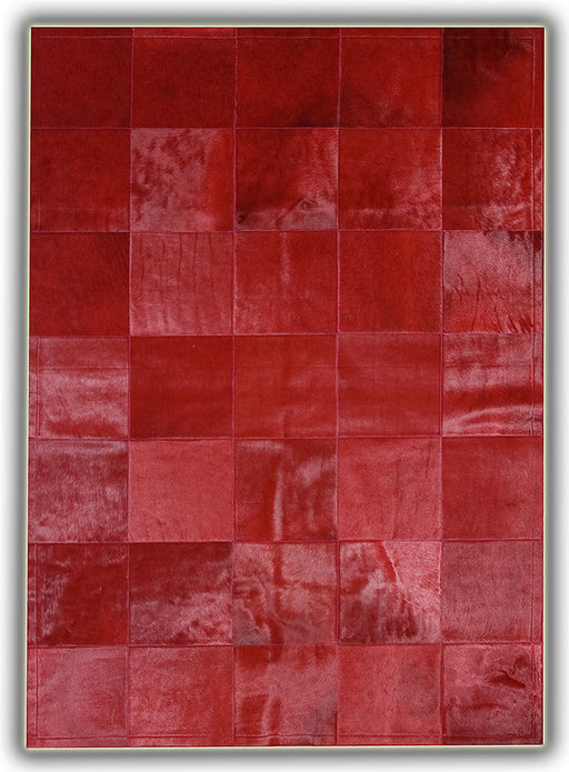Pieles Pipsa Red Cow Hide Designer Rug 13 Main Image