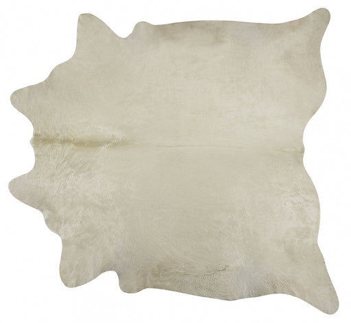 Modern Loom White Cow Hide Rug 3 Main Image
