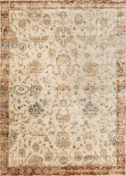 Loloi Anastasia AF-04 Ant Ivory / Rust Abstract Synthetic Rug Main Image