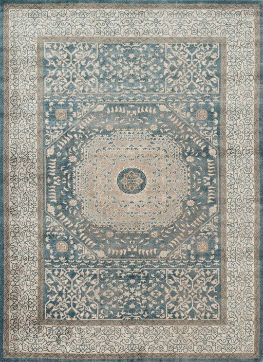 Loloi Century CQ-01 Blue / Sand Traditional Patterned Rug Main Image