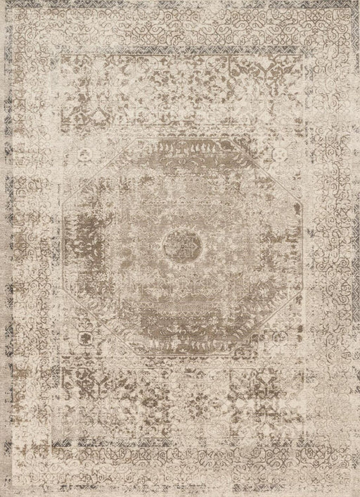 Loloi Century CQ-01 Taupe / Sand Traditional Synthetic Rug Main Image