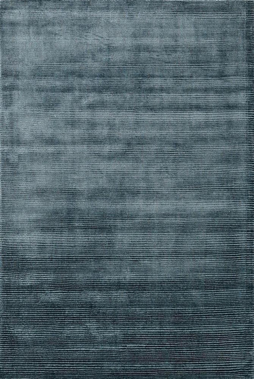 Loloi Loloi Luxe LX-01 Bluesteel Silk Striped Rug Main Image