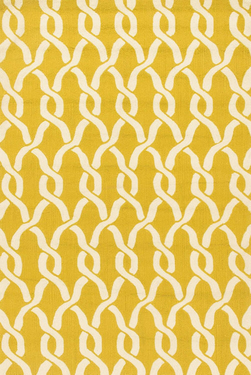 Loloi Venice Beach VB-08 Goldenrod / Ivory Abstract Synthetic Rug Main Image