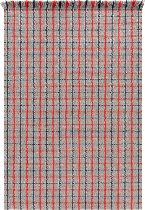 Gandia Blasco Red Garden Layers Rug Tartan Main Image