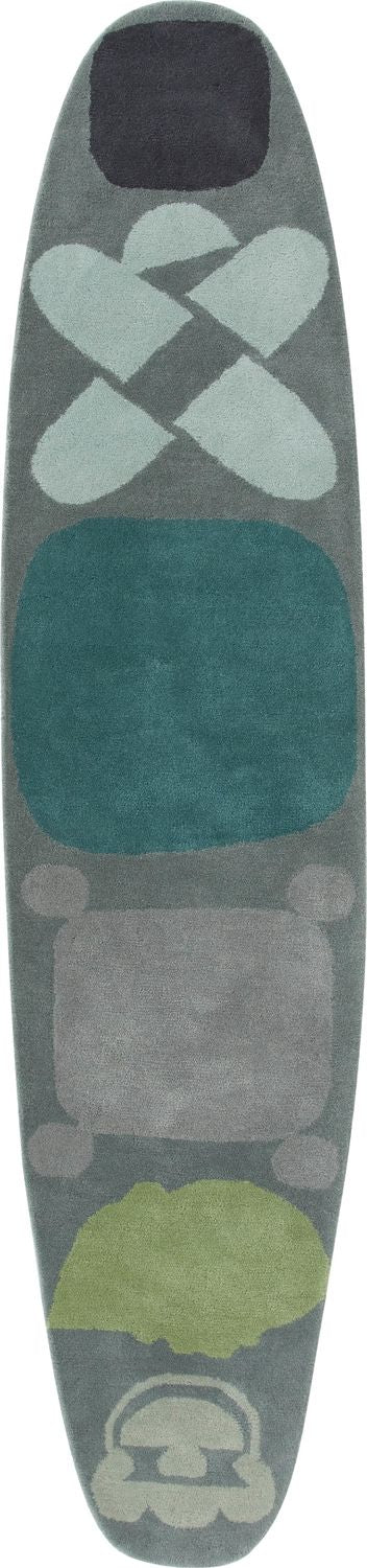 Gandia Blasco Gray Hand Tufted Surf Race Rug Main Image