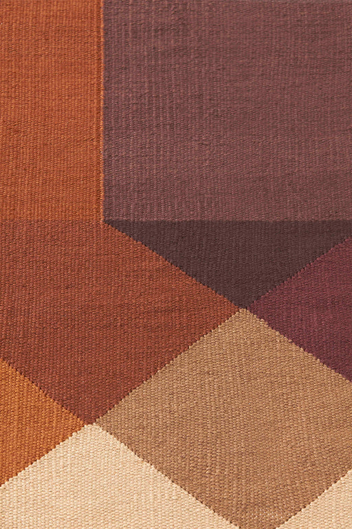Gan Rugs Orange-Wine Diamond Kilim Rug by Charlotte Lancelot
