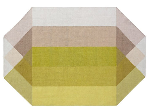 Gan Rugs Pink-Yellow Diamond Kilim Rug by Charlotte Lancelot