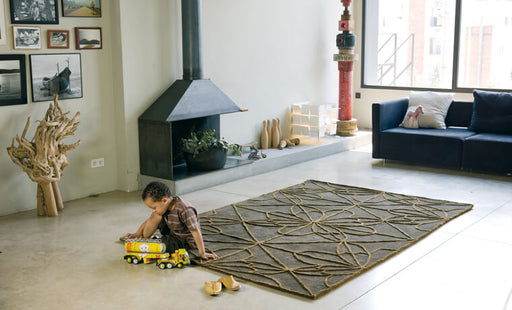 Nani Marquina Brown Hilo Wool Rug 2